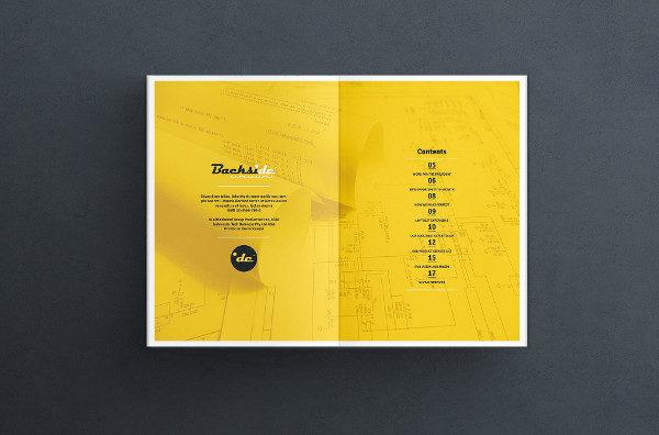 US Letter Size Brochure Indesign Template