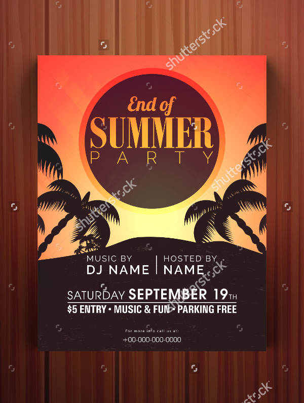 Summer Break Party Celebration Flyer