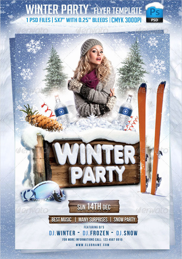 Winter Party Celebration Flyer