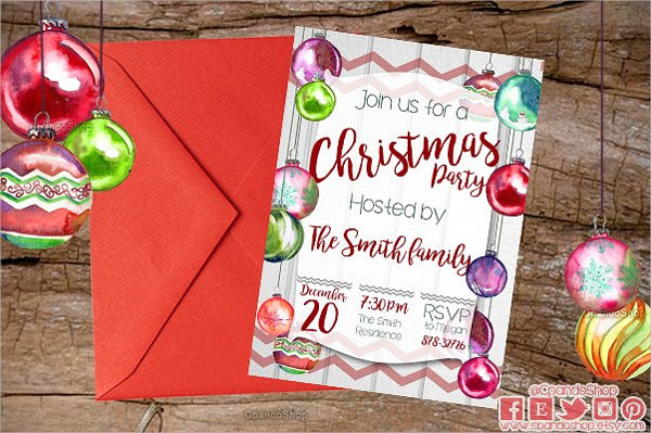 Best Christmas Dinner Invitation Template