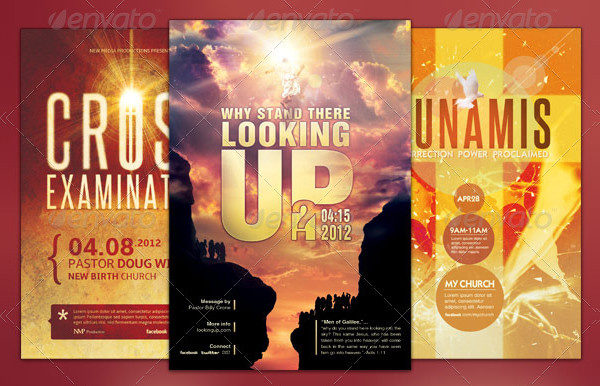 Modern Church Marketing Flyers Set