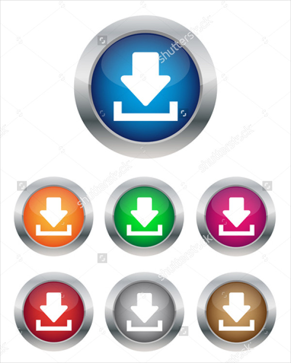Circle Download Buttons