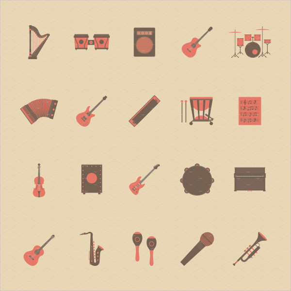 Classical Music Retro Style Icons