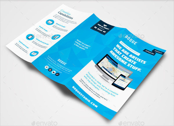 Web Design Agency Folded Brochure