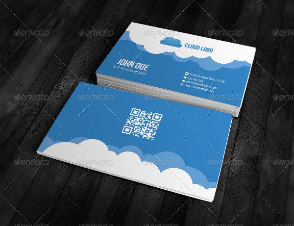 Clean Cloud Business Card Design