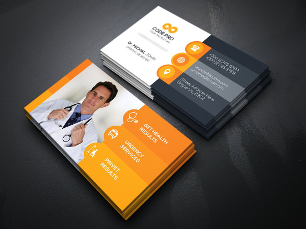clean medical doctor business card template - Doctor Business Card