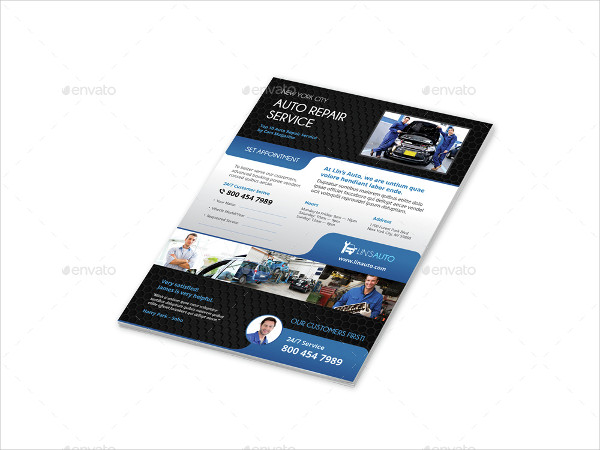 Clean and Modern Auto Repair Flyers