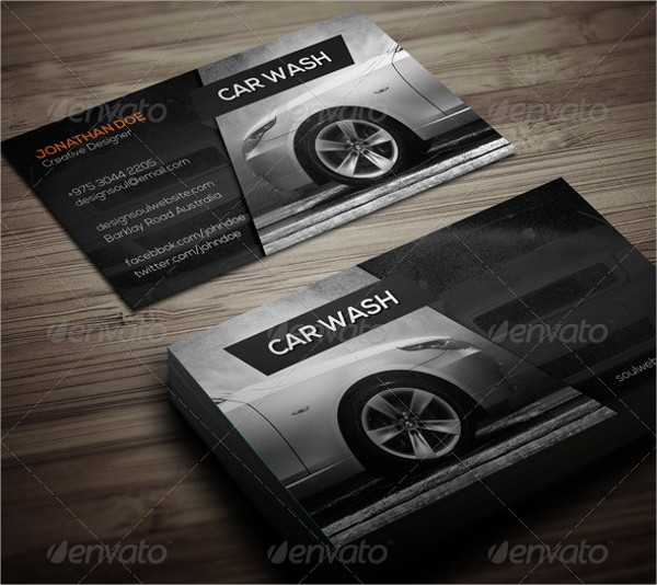 Customizable Car Wash Business Card