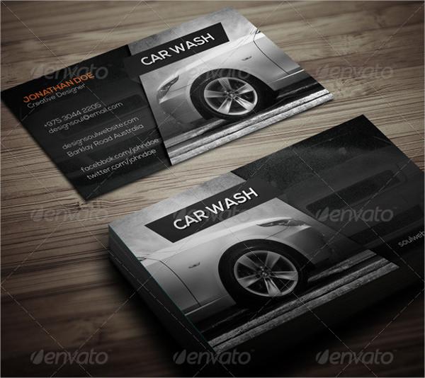 customizable car wash business card - Car Wash Business Cards