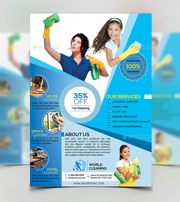 Cleaning Services Business Flyer Template