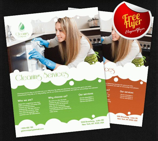 Cleaning Services Free Flyer PSD Template