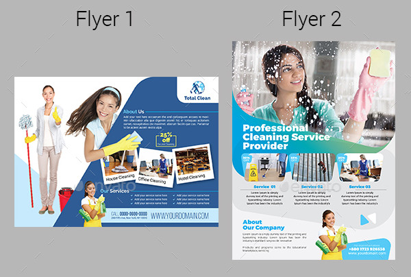 Cleaning Services Promotional Flyers Bundle