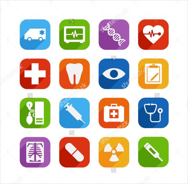 Medical Icon Set Illustrator