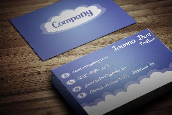 Free Cloud Business Card Design