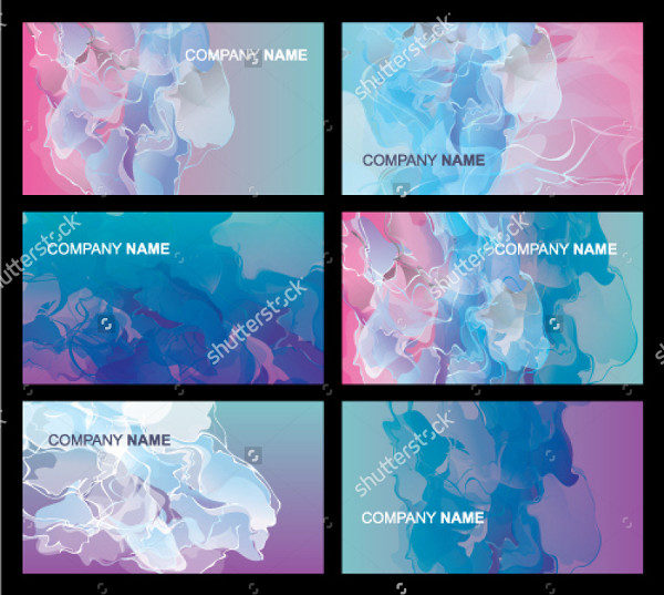 Set of Cloud Business Cards