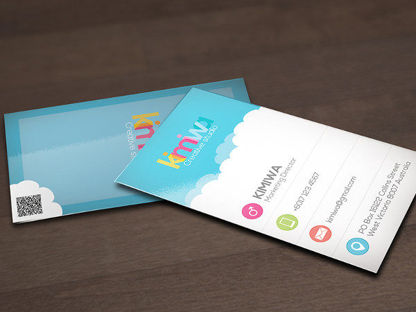 Editable Cloud Business Card Template