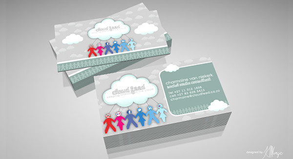 Cloud Feed Logo Business Card