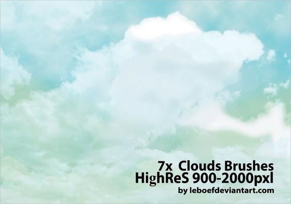 Cloud Photoshop Brush Pack