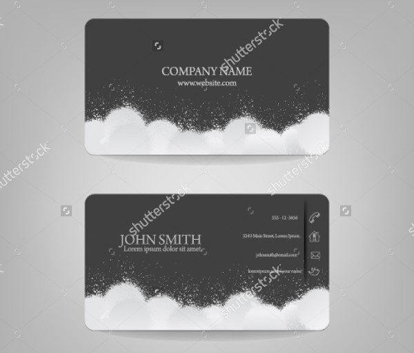 Cloud Splatter Business Card