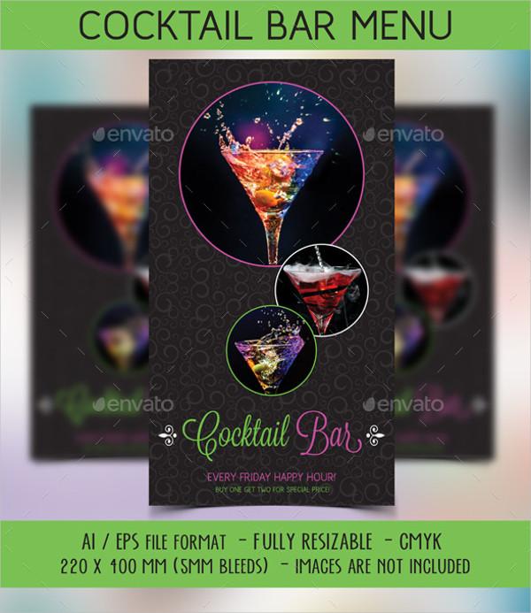 21 cocktail menu templates free premium download