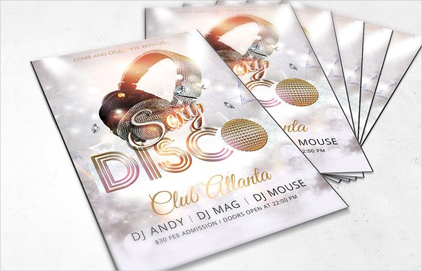 Disco Dance Club Promotional Flyer Template