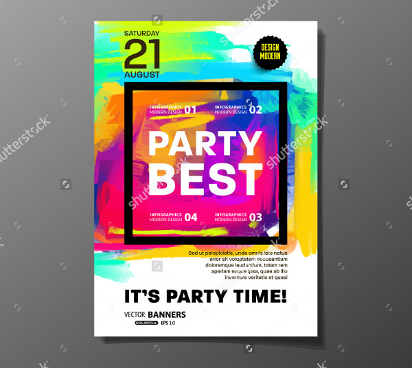 Club Vector Design Flyer Template