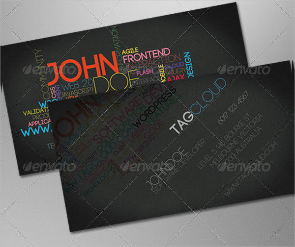 Tag Cloud Business Card Template