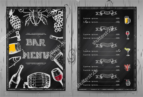 Blackboard Bar Menu Template