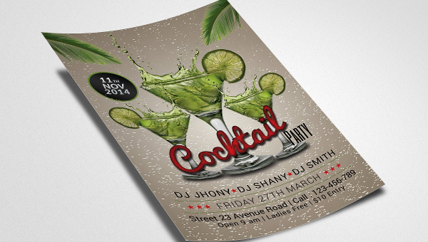 25+ Cocktail Party Flyers