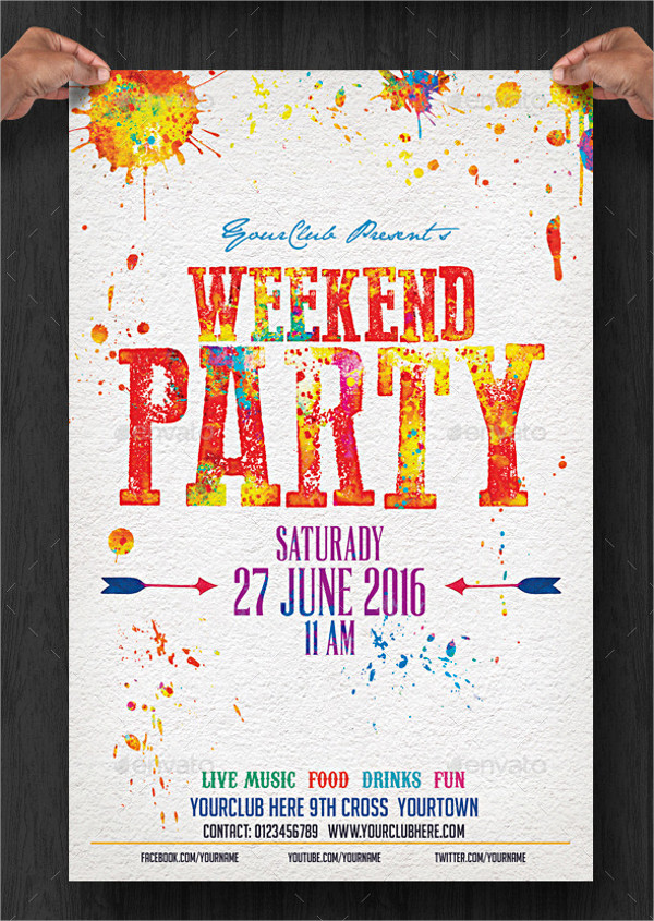 Weekend Cocktail Party Flyer Template