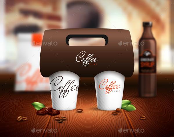 Coffee Cups Mockup Illustration