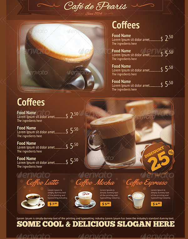Coffee Menus Flyer Template