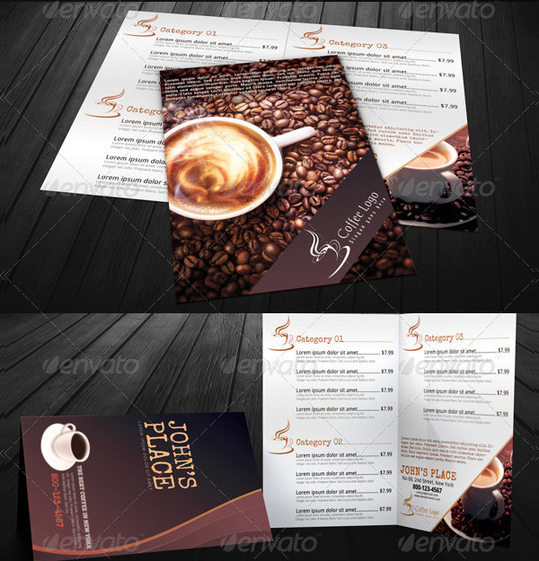 Coffee Menu Templates & Business Card