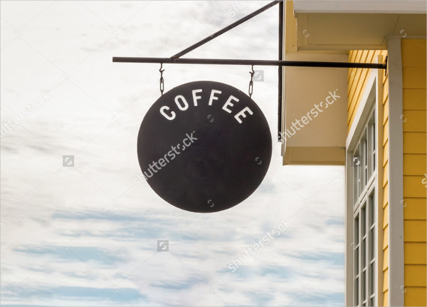 Coffee Shop Sign Mockup