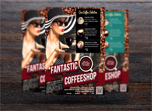 Fantastic Coffee Menu Flyer Template