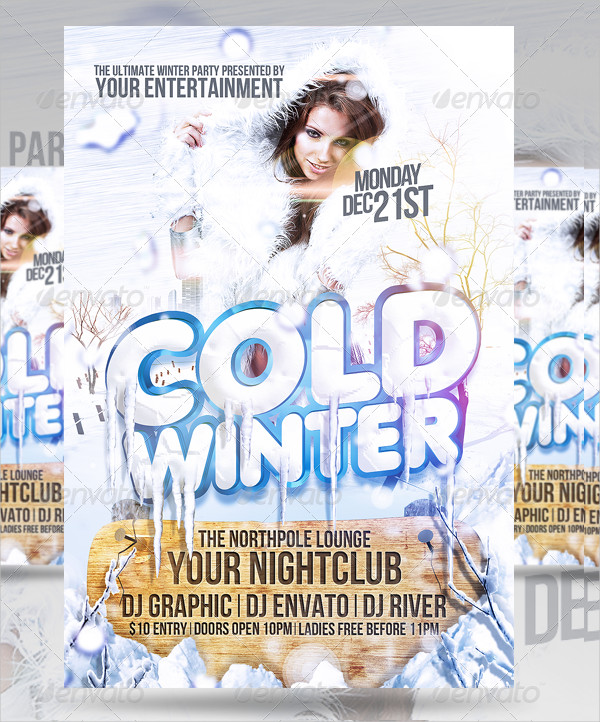 Cold Winter Party Flyer