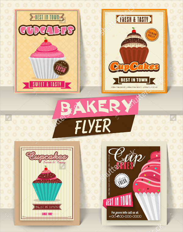 Collection of Bakery Advertising Flyers