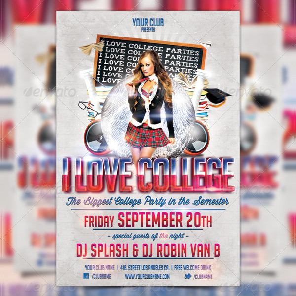 Best College Party Flyer Template