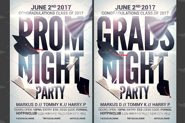 Clean College Event Party Flyer Template
