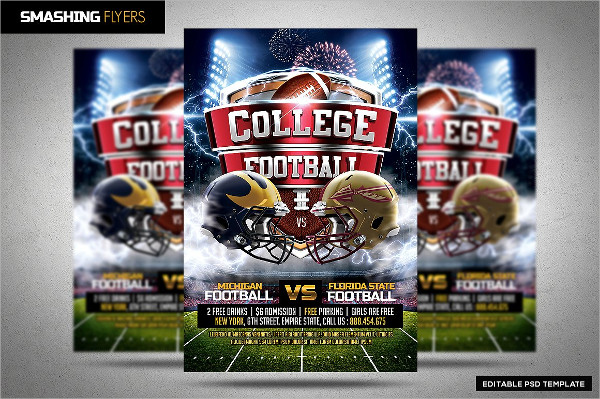 College Football Party Flyer Template