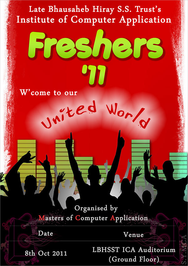 College Freshers Party Flyer Template