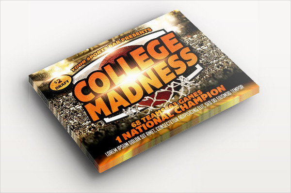 College Madness Basketball Flyer Template