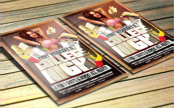 Unique College Night Party Flyer Template