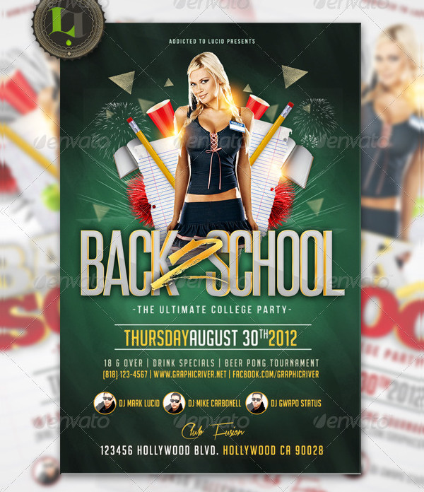 Special College Night Party Flyer Template