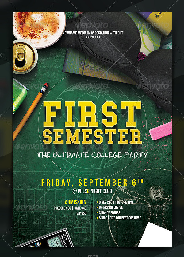 22  college party flyer templates