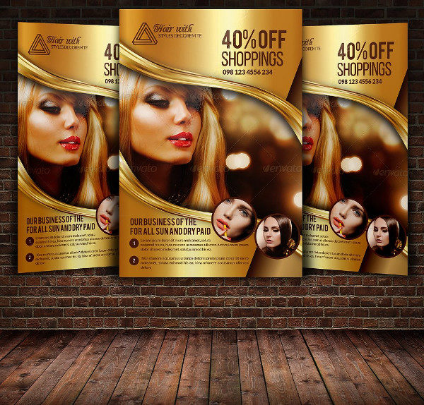 Hair Salon & Beauty Care Flyer Template