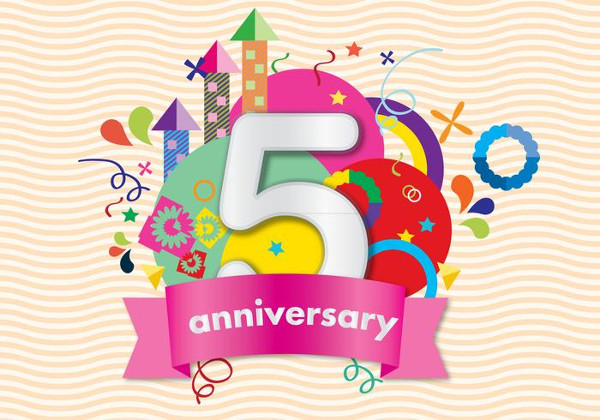 Colorful Anniversary Card Template Free