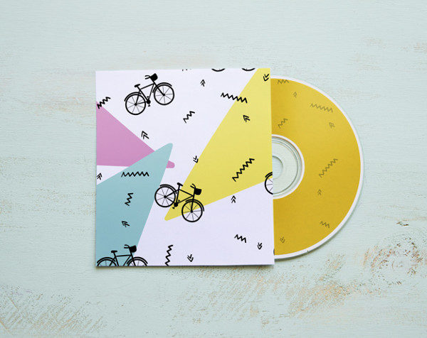 Colorful CD Mockup Free PSD