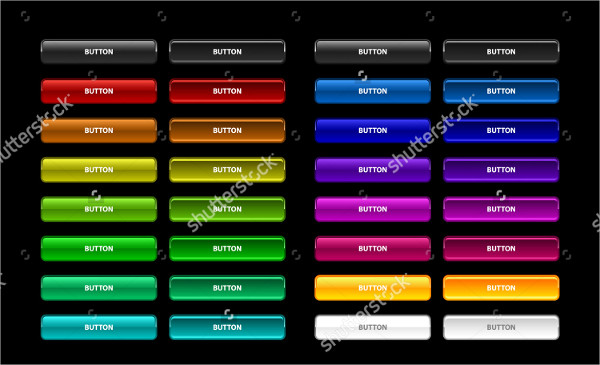 Colorful Set Web Buttons
