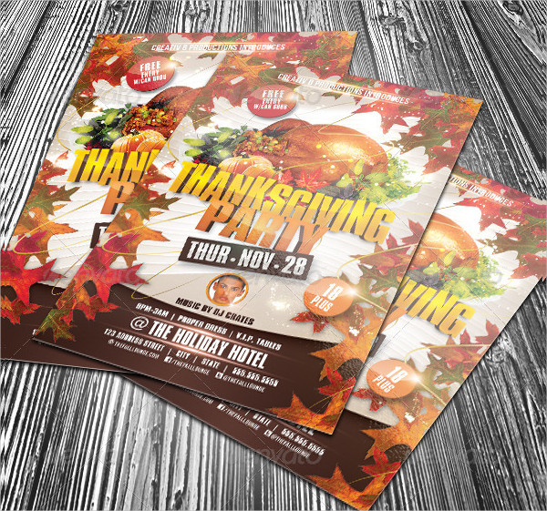 Colorful Thanksgiving Flyer Template